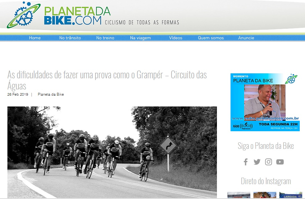 Grampér na Mídia: Planeta da Bike