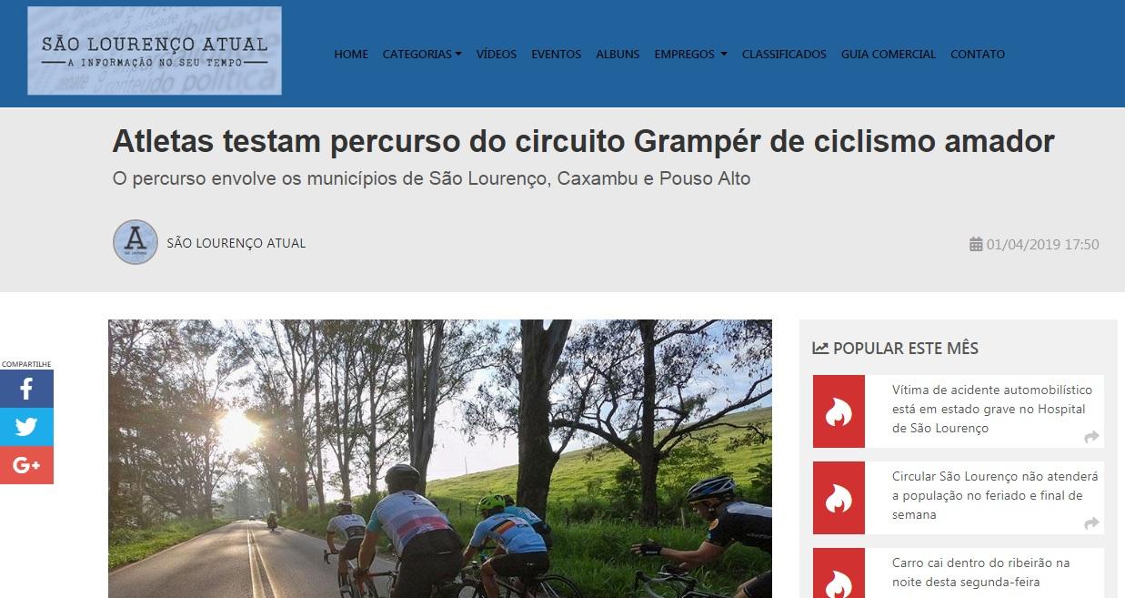 Grampér na Mídia: São Lourenço Atual